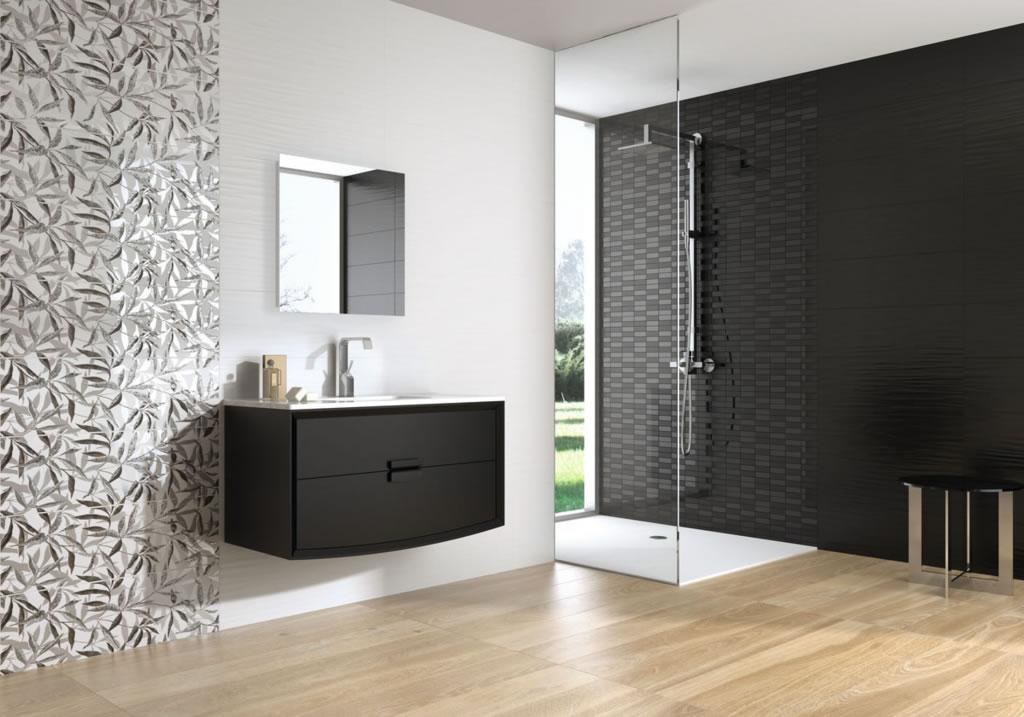 Carrelage les fa ences de salle de bains - Carrelage mauve salle bain ...