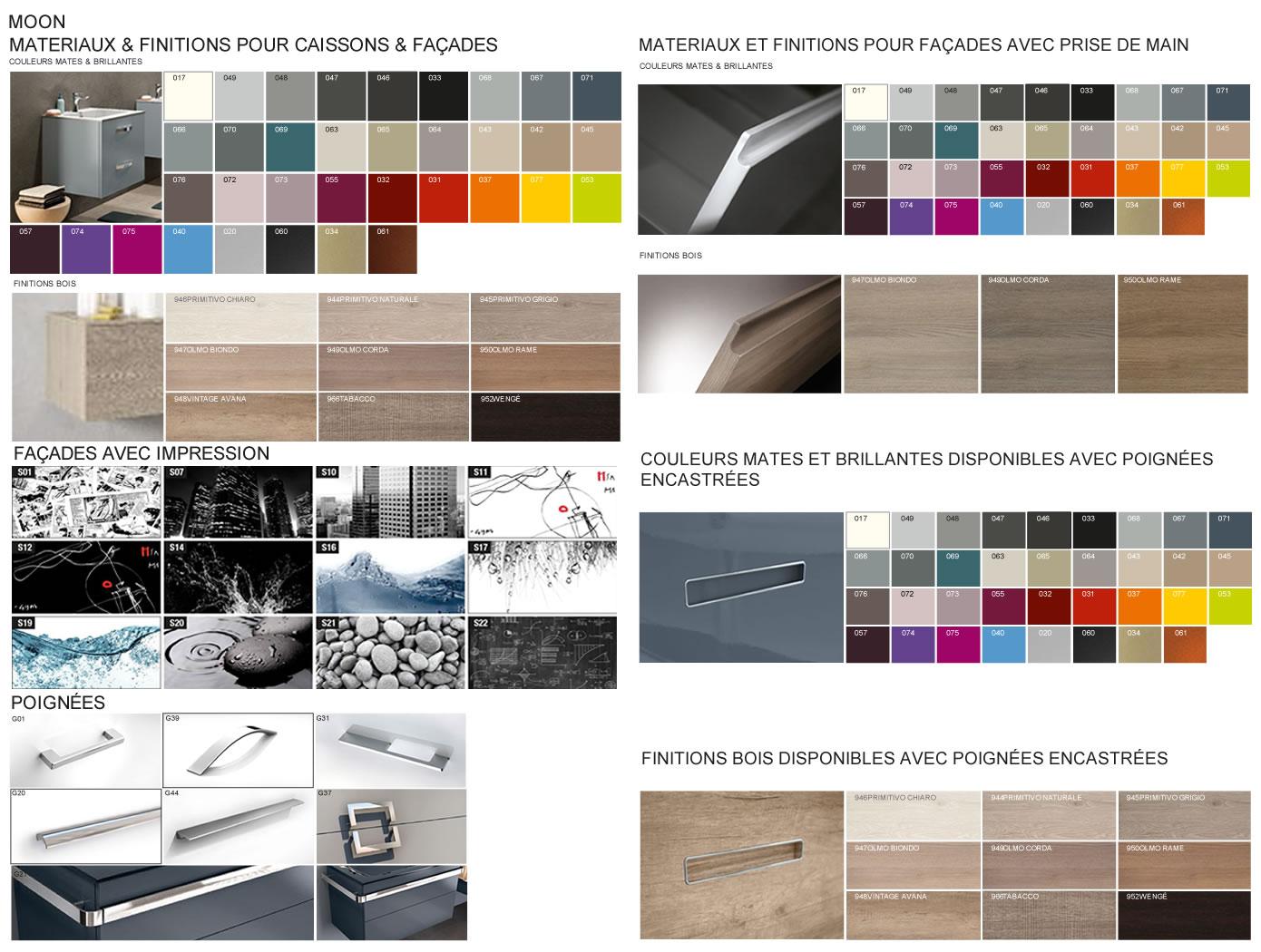 meubles de salle de bains serie moon. Black Bedroom Furniture Sets. Home Design Ideas