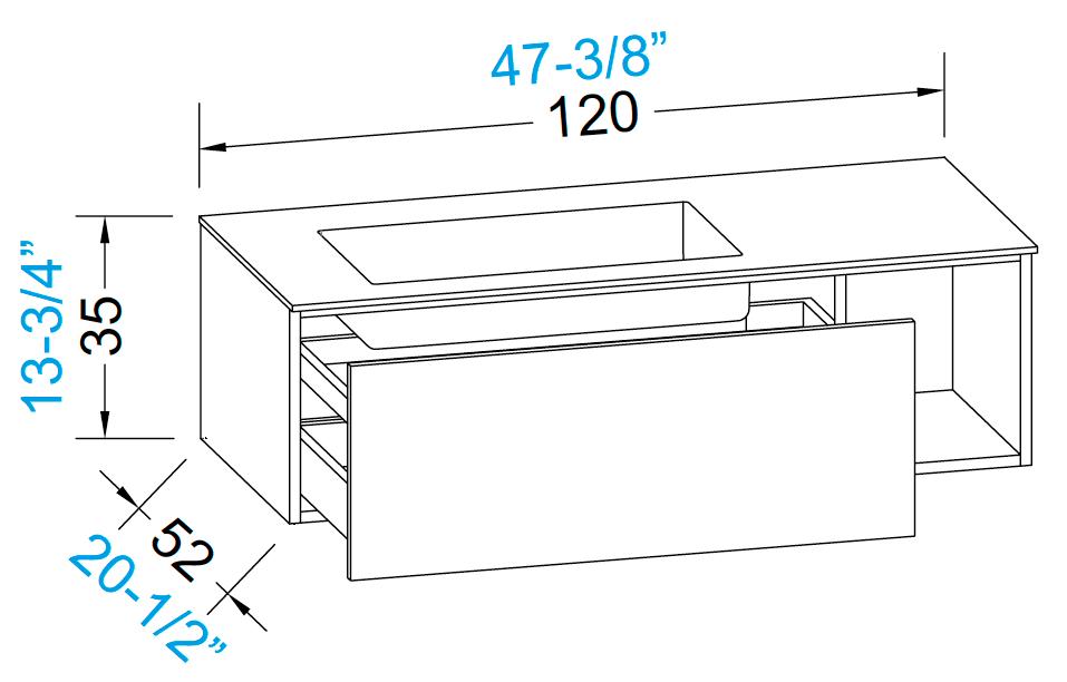 meubles de salle de bains serie open. Black Bedroom Furniture Sets. Home Design Ideas