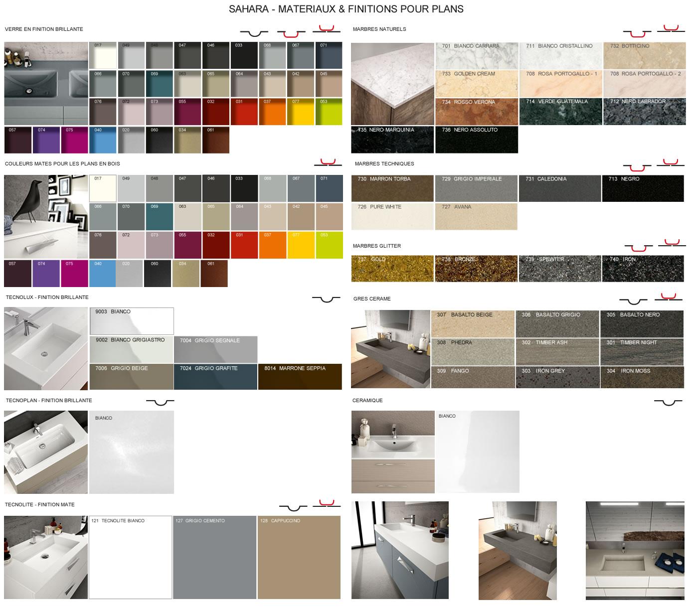 meubles de salle de bains serie sahara. Black Bedroom Furniture Sets. Home Design Ideas