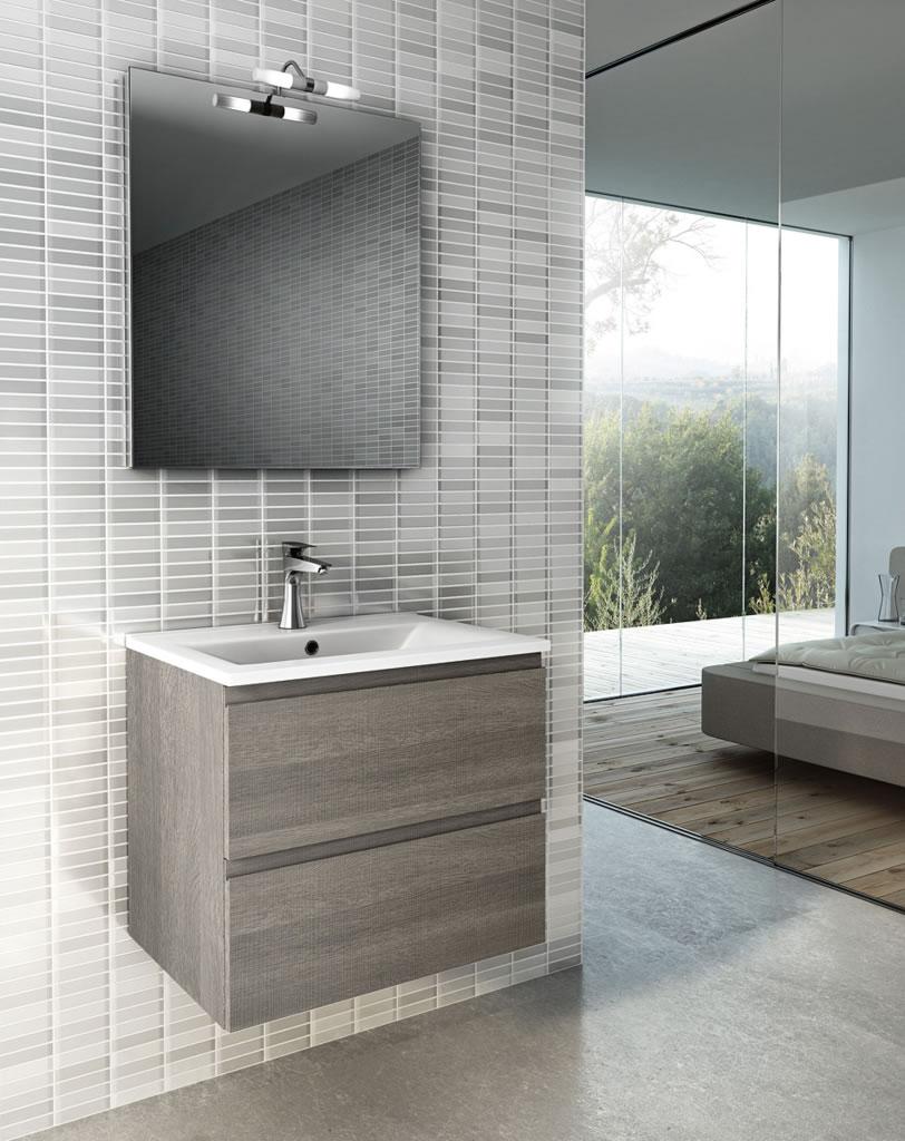 Meubles de salle de bains conomique serie urban for Miroir urban